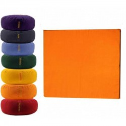 Meditatiemat basic foam oranje