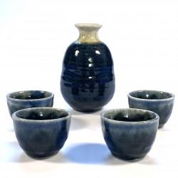Sake set blauw