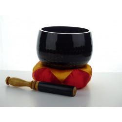 klankschaal handgeslagen 32 cm zwart