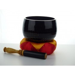 klankschaal handgeslagen 36 cm zwart