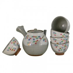 Shino Teapot and cups