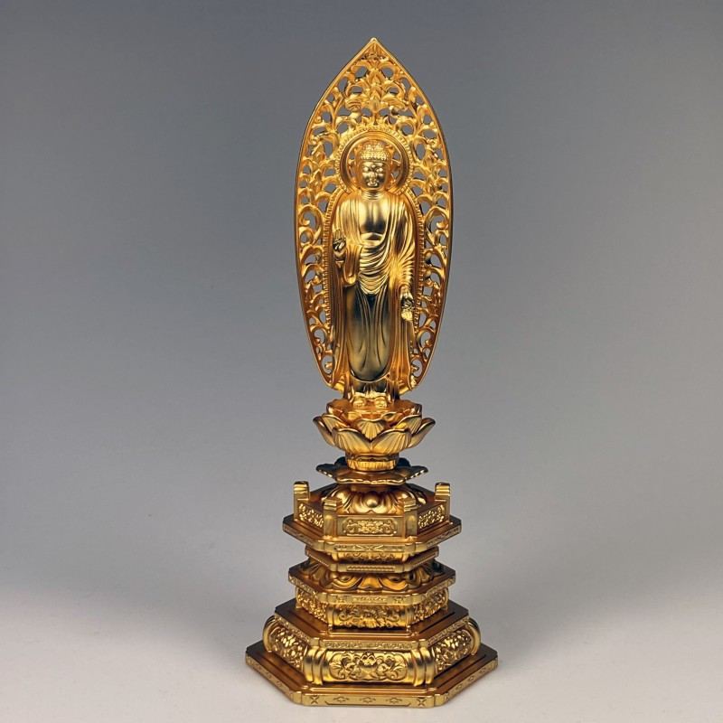 Buddha statue Shaka Nyorai 22.5 cm