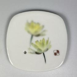 Incense Bowl White Lotus