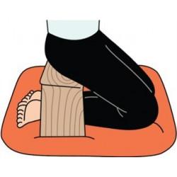 Meditatiebankje rubberhout ergonomisch vast