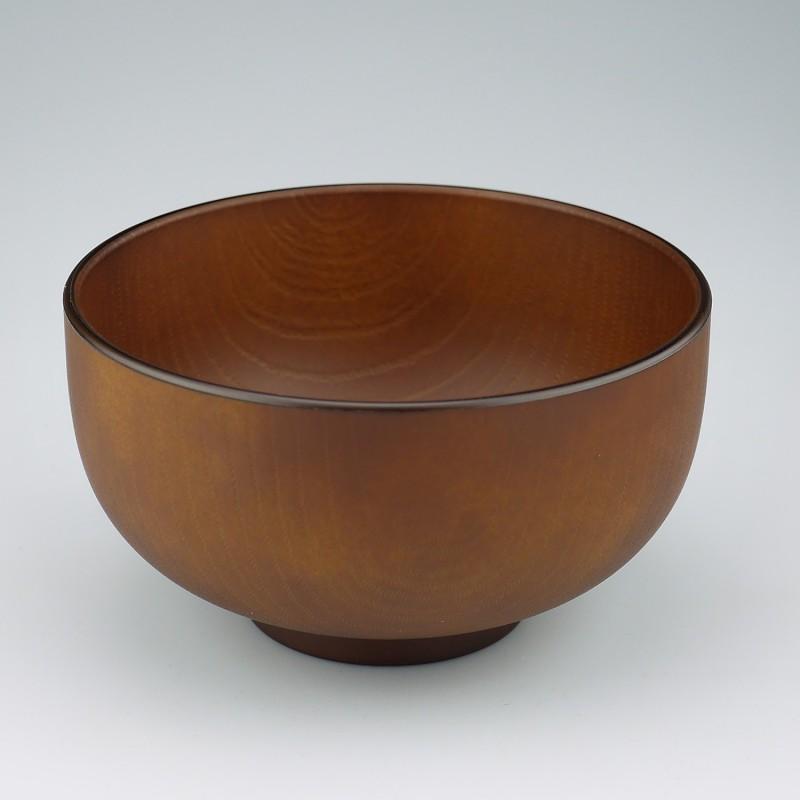 Soup bowl Mokume S brown