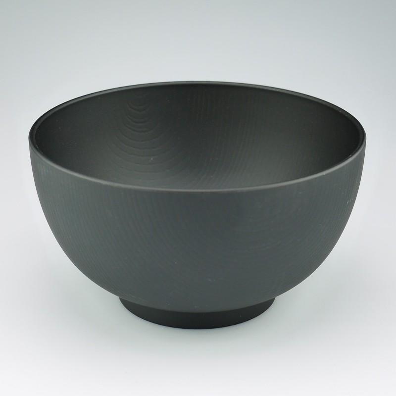 Soup bowl Mokume L black