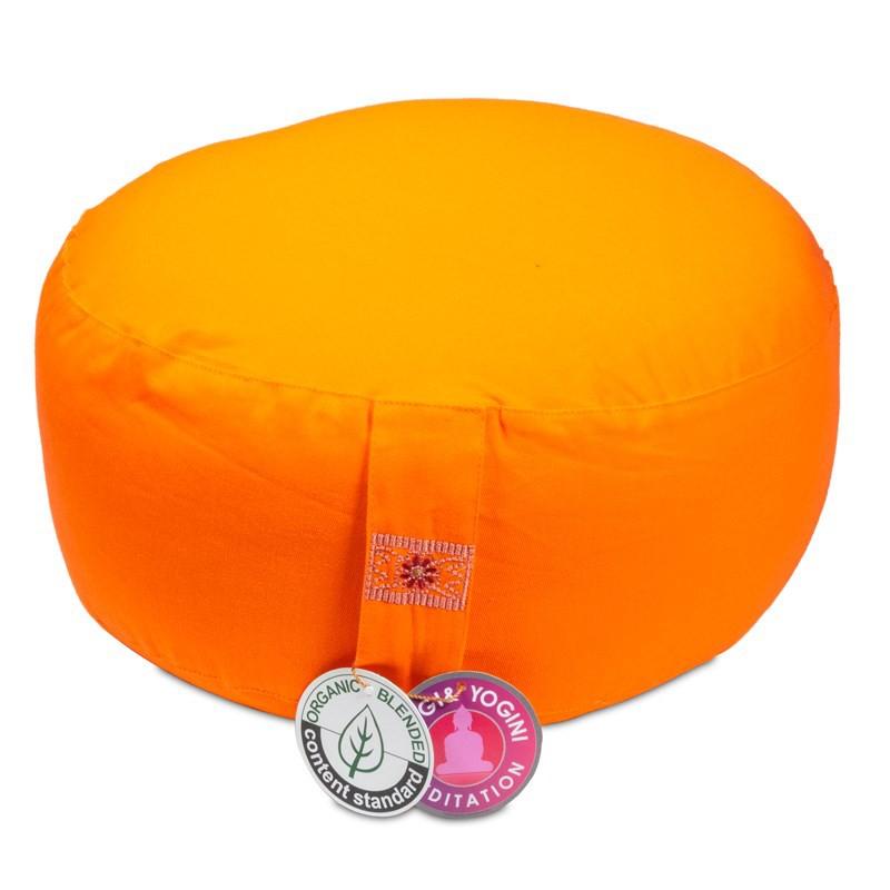 Meditatiekussen Yogi Yogini 33x17 cm oranje bio