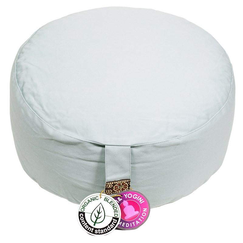 Zafu Yogi Yogini 33x17 cm Celadon Eco Meditation Cushion