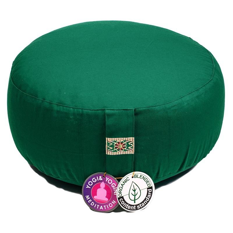 Zafu Yogi Yogini 33x17 cm Green Eco Meditation Cushion