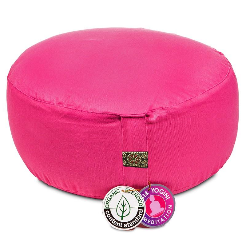 Zafu Yogi Yogini 33x17 cm Pink Eco Meditation Cushion