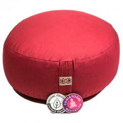 Meditatiekussen Yogi Yogini 33x17 cm rood bio