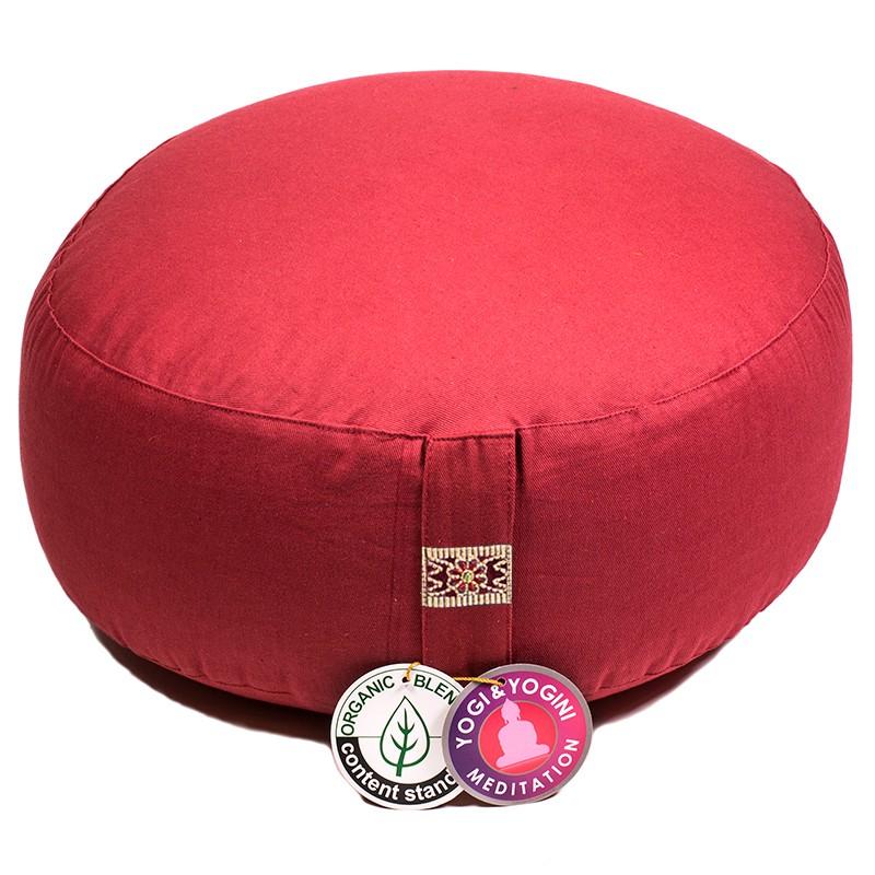 Zafu Yogi Yogini 33x17 cm Anthracite Eco Meditation Cushion