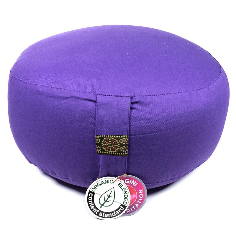 Meditatiekussen Yogi Yogini 33x17 cm violet bio