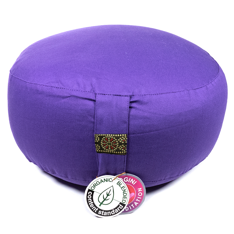 Zafu Yogi Yogini 33x17 cm Violet Eco Meditation Cushion