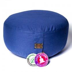 Meditatiekussen Yogi Yogini 33x17 cm leisteen blauw bio