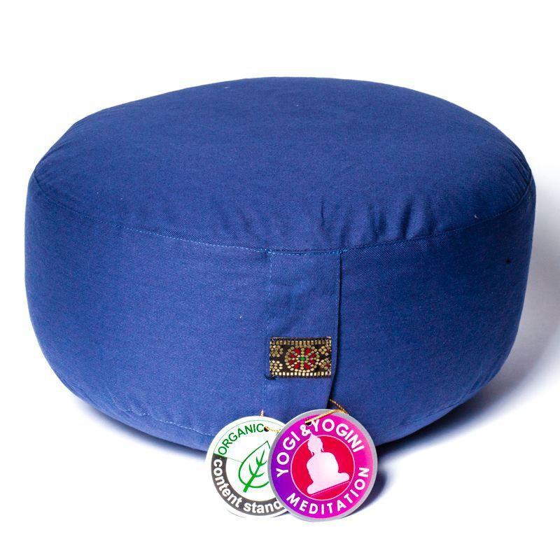Zafu Yogi Yogini 33x17 cm Slate Blue Eco Meditation Cushion