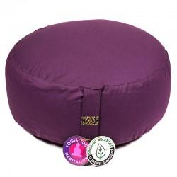 Zafu Yogi Yogini 33x17 cm Dark Purple Eco Meditation Cushion